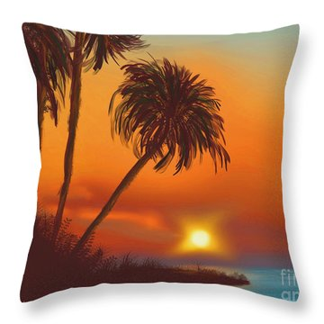 Hawaiian Sunset Throw Pillow