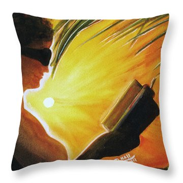 Hawaiian Sunset Catching The Last Rays #132 Throw Pillow by Donald k Hall