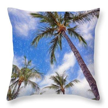 Hawaiian Vacation #4 Throw Pillow