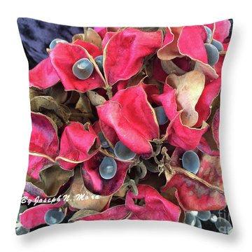 Hawaiian Velvet Seed's And Any Hua Were Weke  Throw Pillow
