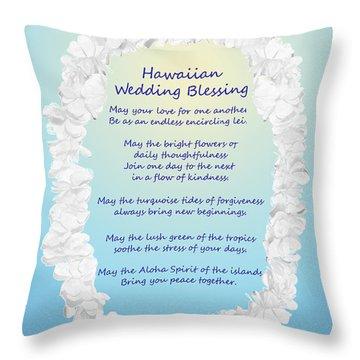 Hawaiian Wedding Blessing Throw Pillow