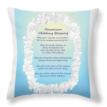 Hawaiian Wedding Blessing Throw Pillow