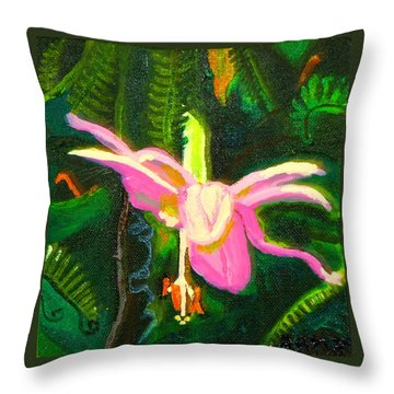 Hawaiian Wildflower Throw Pillow