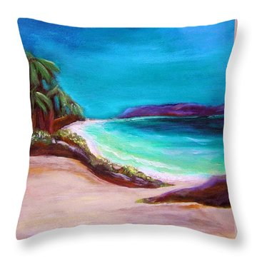 Hawaiin Blue Throw Pillow by Patricia Piffath