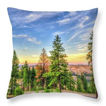 Hawk Creek Sunset Throw Pillow