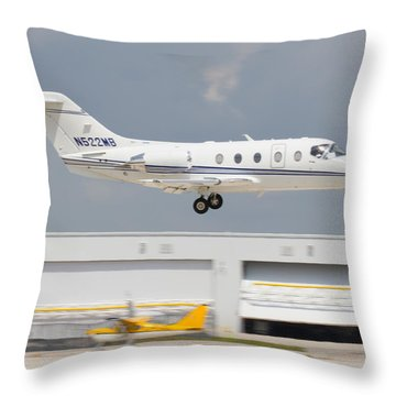 Hawker Beechcraft Throw Pillow