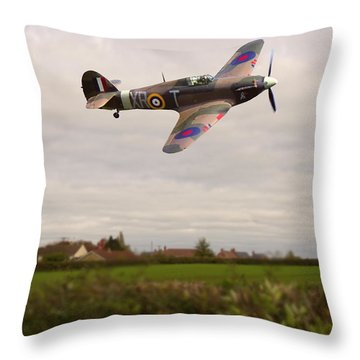 Throw Pillow featuring the photograph Hawker Hurricane -1 by Paul Gulliver