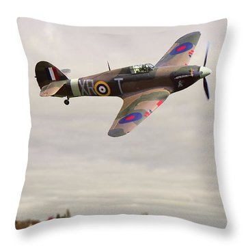 Throw Pillow featuring the photograph Hawker Hurricane -2 by Paul Gulliver