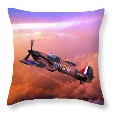 Hawker Hurricane British Fighter Throw Pillow