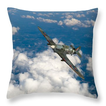 Throw Pillow featuring the photograph Hawker Hurricane IIb Of 174 Squadron by Gary Eason