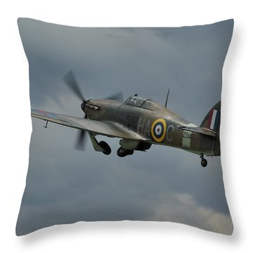 Throw Pillow featuring the photograph Hawker Hurricane Mk Xii  by Tim Beach