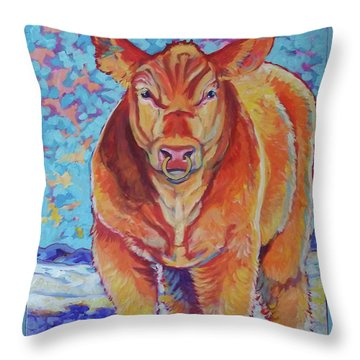 Hawkeye Throw Pillow by Jenn Cunningham