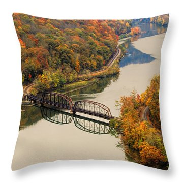 Throw Pillow featuring the photograph Hawks Nest State Park by Ola Allen