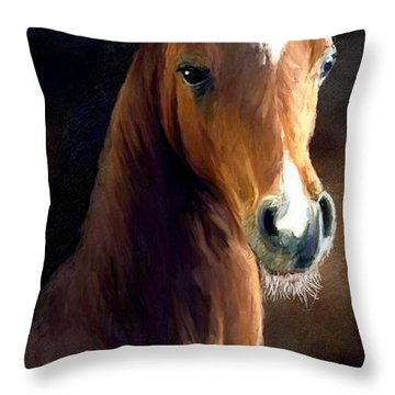 Throw Pillow featuring the painting Hay Dude by James Shepherd