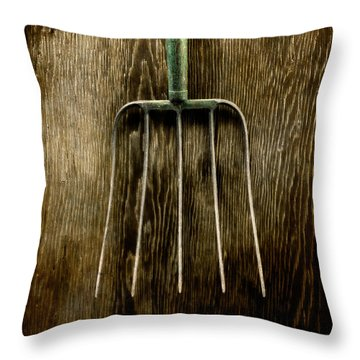 Tools On Wood 7 Throw Pillow
