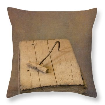Hay Hook Throw Pillow
