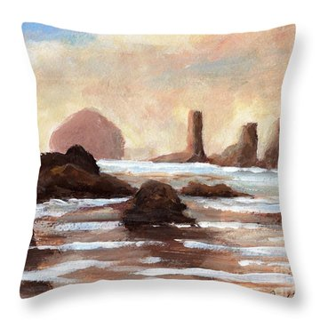 Hay Stack Reef Throw Pillow
