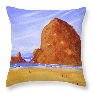 Hay Stack Rock Throw Pillow