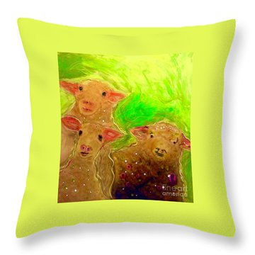 Hay What Dew Ewe Know Throw Pillow