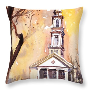 Decorative Pillows Raleigh Nc : Hayes Barton Church Raleigh Nc Painting by Ryan Fox