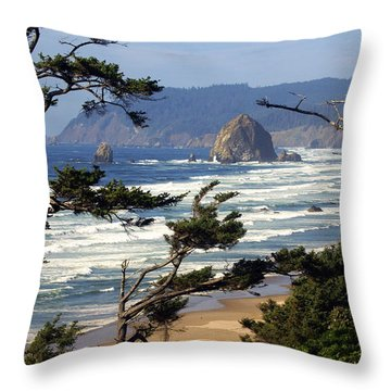 Hayhstack Rock Throw Pillow by Marty Koch