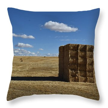 Haystack Off Hwy 2 Throw Pillow