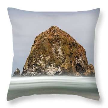 Throw Pillow featuring the photograph Haystack Rock Oregon by Pierre Leclerc Photography