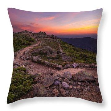 Haystack Sunset Throw Pillow