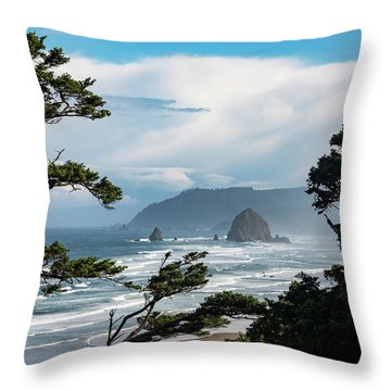Haystack Views Throw Pillow