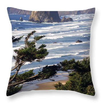 Haystak Rock Through The Trees Throw Pillow by Marty Koch