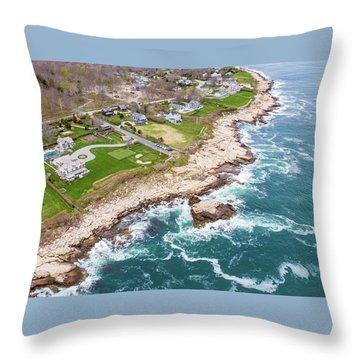 Hazard Rocks, Narragansett  Throw Pillow