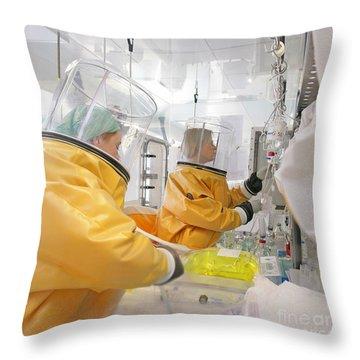 Hazardous Drug Prep In Hospital Pharmacy Throw Pillow