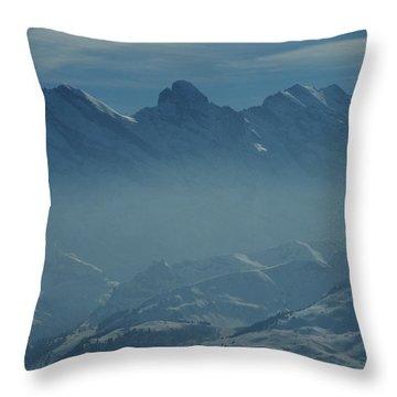 Haze In The Valley Throw Pillow