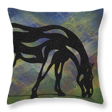 Hazel - Abstract Horse Throw Pillow