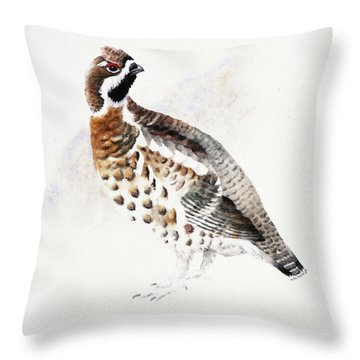 Hazel Grouse Throw Pillow