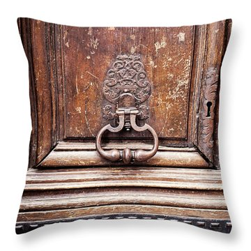 Throw Pillow featuring the photograph Hazel - Paris Door Photography by Melanie Alexandra Price
