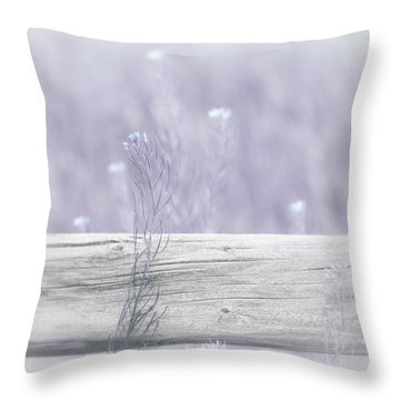 Throw Pillow featuring the photograph Hazy Lavender Wildflowers by Jennie Marie Schell