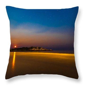 Hazy Moonrise Throw Pillow