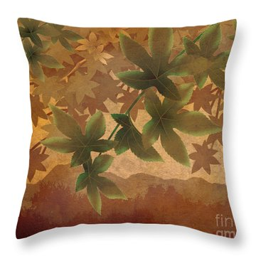 Hazy Shades - Morning Version Throw Pillow by Bedros Awak