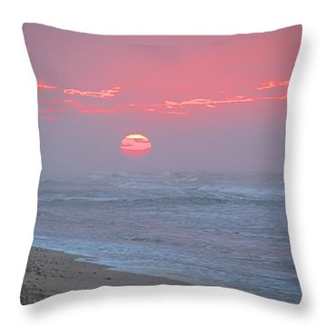 Hazy Sunrise I I Throw Pillow