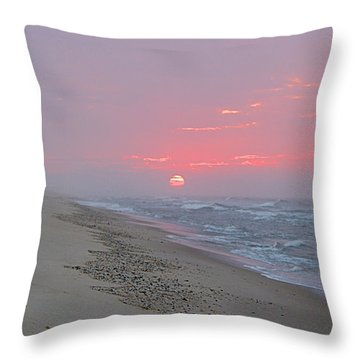 Throw Pillow featuring the photograph Hazy Sunrise by  Newwwman