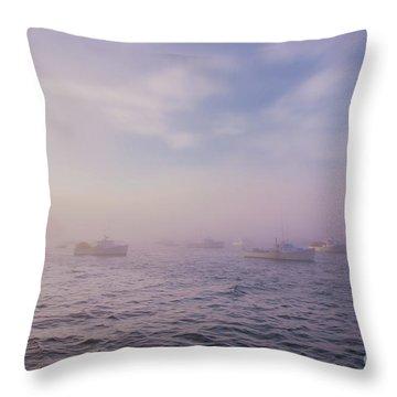 Hazy Sunset In Bar Harbor Maine Throw Pillow