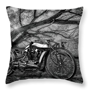 Throw Pillow featuring the photograph Hd Cafe Racer  by Louis Ferreira