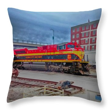 Hdr Fun With Trains Throw Pillow by Dustin Soph