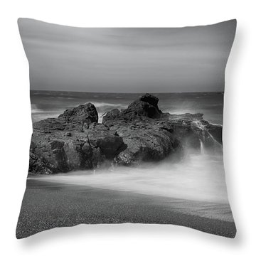He Enters The Sea Throw Pillow by Laurie Search