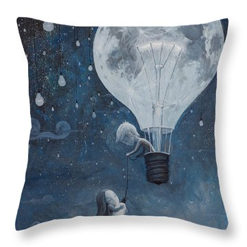 He Gave Me The Brightest Star Throw Pillow by Adrian Borda