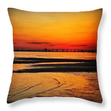 Sunset Glow Throw Pillow by Joan McCool