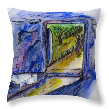 He Is Gone Throw Pillow by Clyde J Kell