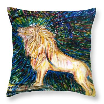 He Is Mighty To Save Throw Pillow
