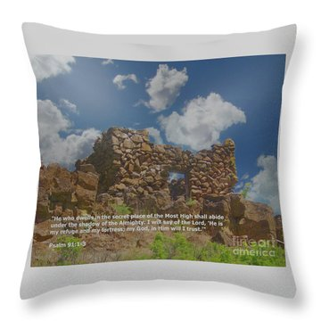 He Is My Refuge And My Fortress Throw Pillow